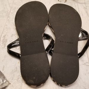 Cole Haan Shoes - Cole Haan Zebra Stripe Flip Flops Size